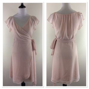 Ceremony by Joanna August blush pink wrap dress